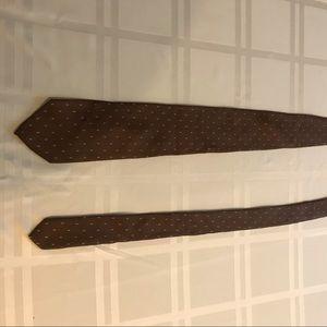 Other - Italian handmade 100% silk brown tie